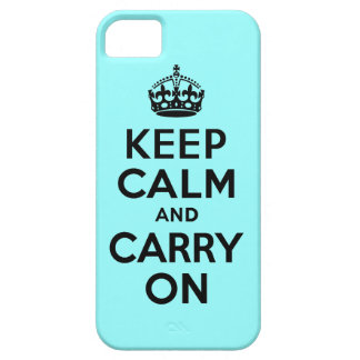 Best Price Keep Calm And Carry On Black and Teal iPhone 5 Case