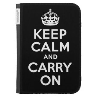 Best Price Keep Calm And Carry On Black and White Case For The Kindle