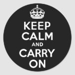 Best Price Keep Calm And Carry On Black and White Stickers