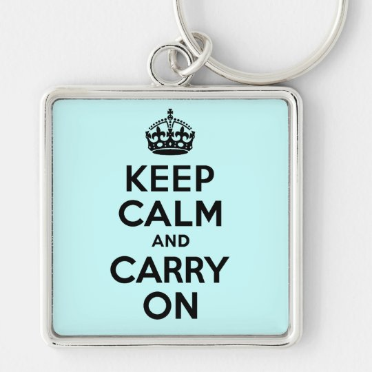 Best Price Keep Calm And Carry On Black Keychain