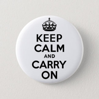 Best Price Keep Calm And Carry On Black Pinback Button