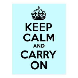 Best Price Keep Calm And Carry On Black Post Card