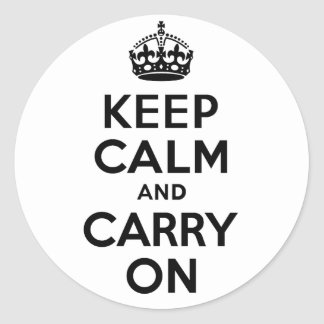 Best Price Keep Calm And Carry On Black Stickers
