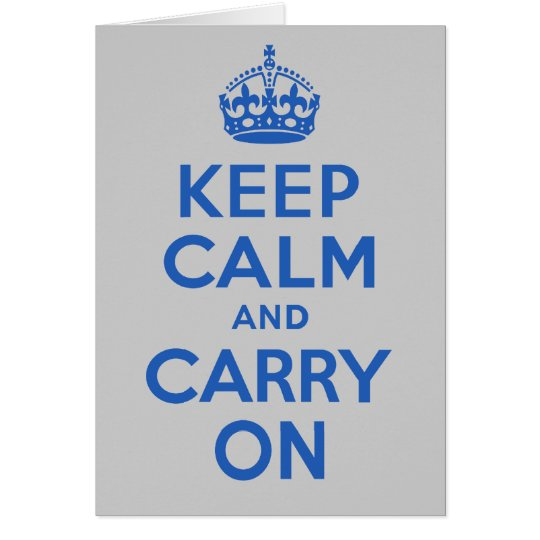 Best Price Keep Calm And Carry On Blue Card