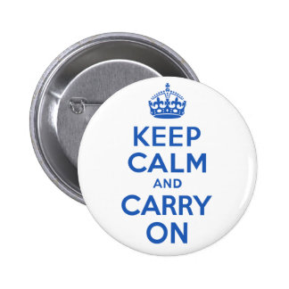 Best Price Keep Calm And Carry On Blue Pinback Button