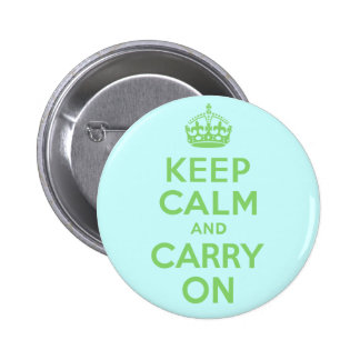Best Price Keep Calm And Carry On Green 2 Inch Round Button