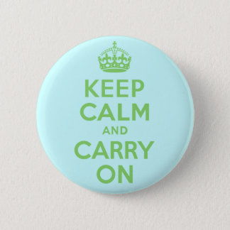 Best Price Keep Calm And Carry On Green Pinback Button