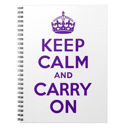 Best Price Keep Calm And Carry On Purple Lover Notebook