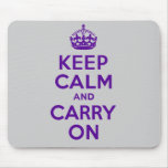 Best Price Keep Calm And Carry On Purple Mouse Pad