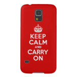 Best Price Keep Calm And Carry On Red and White Galaxy S5 Case