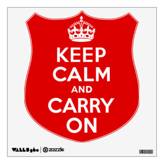 Best Price Keep Calm And Carry On Red and White Wall Decal