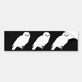 Best Price Three Mysterious White Owls Bumper Stickers