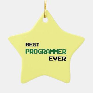 Best Programmer Ever Ceramic Ornament