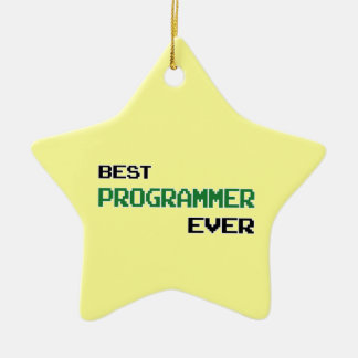 Best Programmer Ever Double-Sided Star Ceramic Christmas Ornament