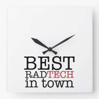 Best Rad Tech in Town Wall Clock