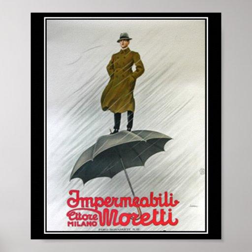 Best Raincoat Vintage Poster