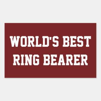 Best Ring Bearer (red) Rectangular Sticker