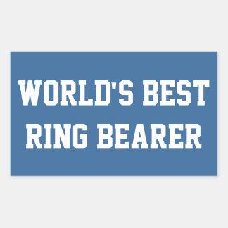 Best Ring Bearer Rectangular Sticker