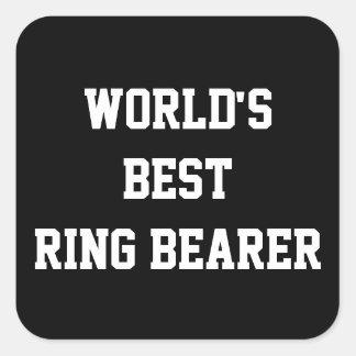 Best Ring Bearer Square Sticker