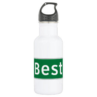 Best, Road Marker, Texas, USA Stainless Steel Water Bottle