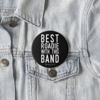 Best Roadie (maybe) (wht) Pinback Button