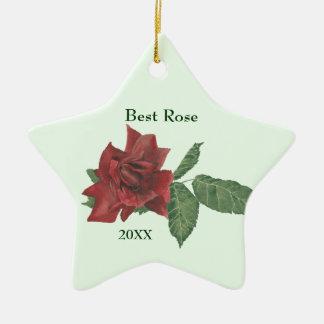Best Rose Customizable Ornament