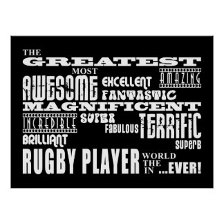 Best Rugby Players Greatest Rugby Player Poster