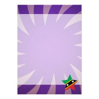 "Best Saint Kitts and Nevis Flag Design 5"" X 7"" Invitation Card"