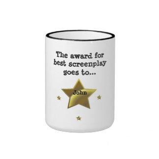 Best Screenplay Award: John Ringer Mug