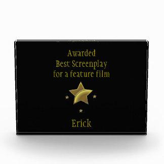 """Best Screenplay/Feature"" Award: Erick Award"