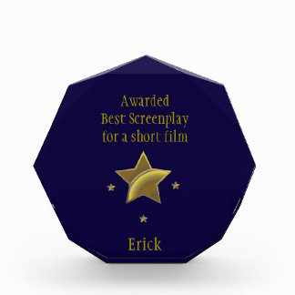 """Best Screenplay/Short"" Award: Erick Award"