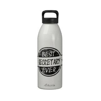 Best Secretary Ever Black Drinking Bottle