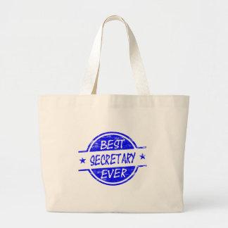 Best Secretary Ever Blue Tote Bags
