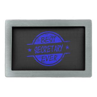 Best Secretary Ever Blue Rectangular Belt Buckles