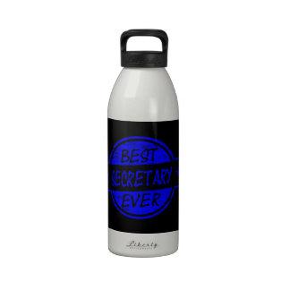 Best Secretary Ever Blue Drinking Bottle