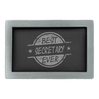 Best Secretary Ever Gray Rectangular Belt Buckles