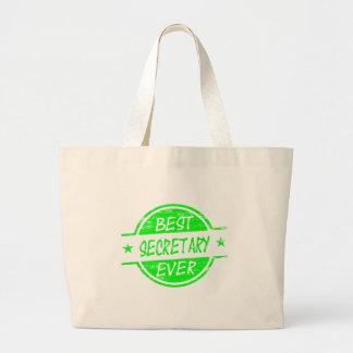 Best Secretary Ever Green Canvas Bags
