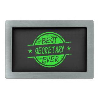 Best Secretary Ever Green Belt Buckle