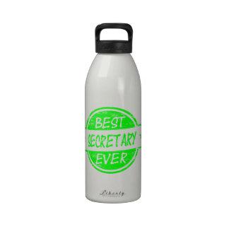 Best Secretary Ever Green Drinking Bottles