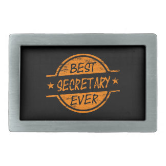 Best Secretary Ever Orange Rectangular Belt Buckle