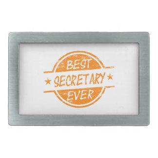 Best Secretary Ever Orange Belt Buckle
