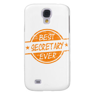 Best Secretary Ever Orange Samsung Galaxy S4 Case
