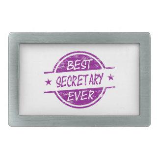 Best Secretary Ever Purple. Rectangular Belt Buckles