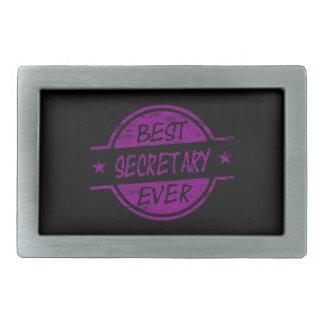 Best Secretary Ever Purple Rectangular Belt Buckle