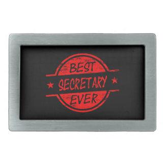 Best Secretary Ever Red Belt Buckle