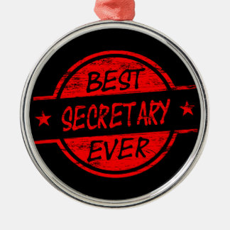 Best Secretary Ever Red Metal Ornament