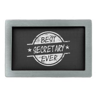 Best Secretary Ever White Belt Buckles