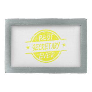 Best Secretary Ever Yellow Rectangular Belt Buckles