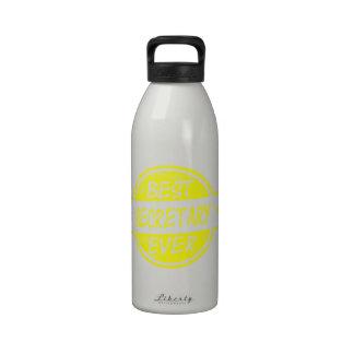 Best Secretary Ever Yellow Water Bottle