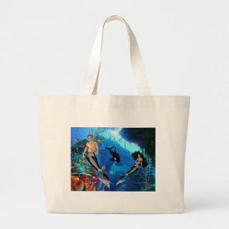 Best Seller Merrow Mermaid Large Tote Bag